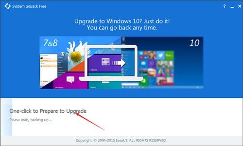 Eseguire il backup del sistema per downgrade di Windows 10 e Windows 8.1