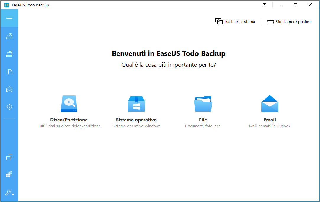 Immagine di backup di Windows 10 il sistema di ripristino.