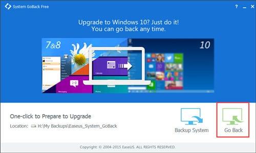Downgrade di Windows 10 a Windows 8.1 con un solo clic