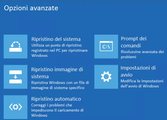 ripristino automatico Windows