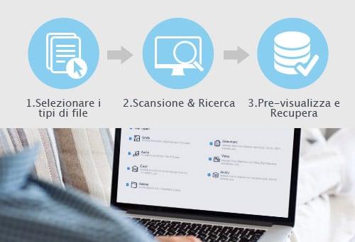 software EaseUS di recupero dei dati permette di recuperare i file eliminati CHK con 3 semplici passi