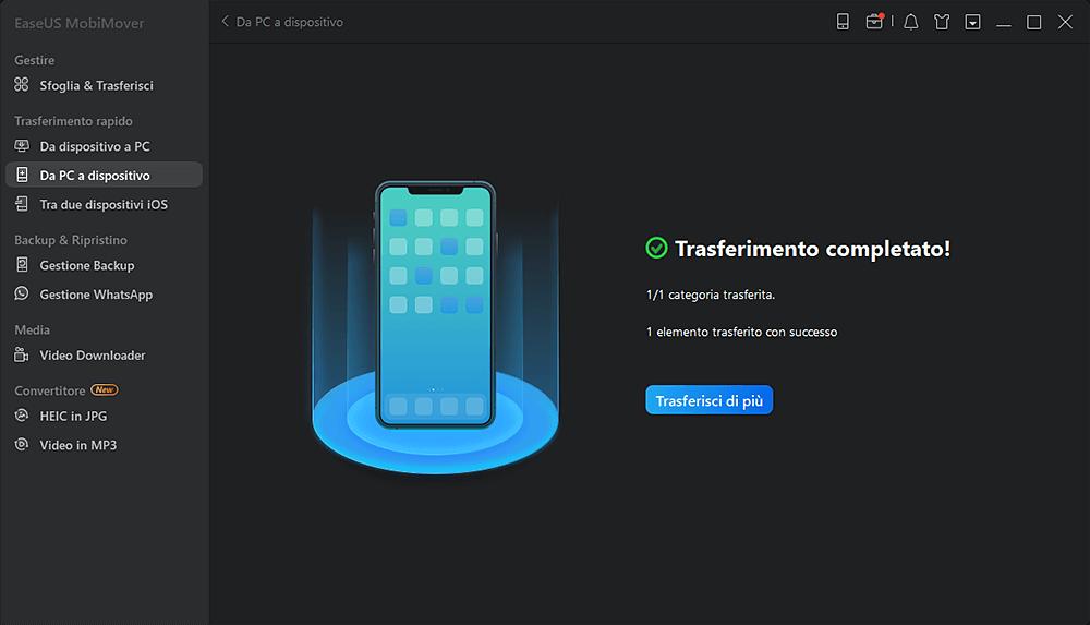 fare backup iphone su pc itunes